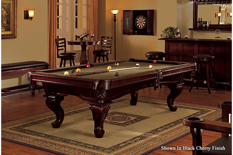 mallory pool table on area rug