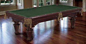 wellington pool table on hardwood floor