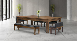 Baylor II 7 Ft Pool Table Dining Collection - Rustic Series
