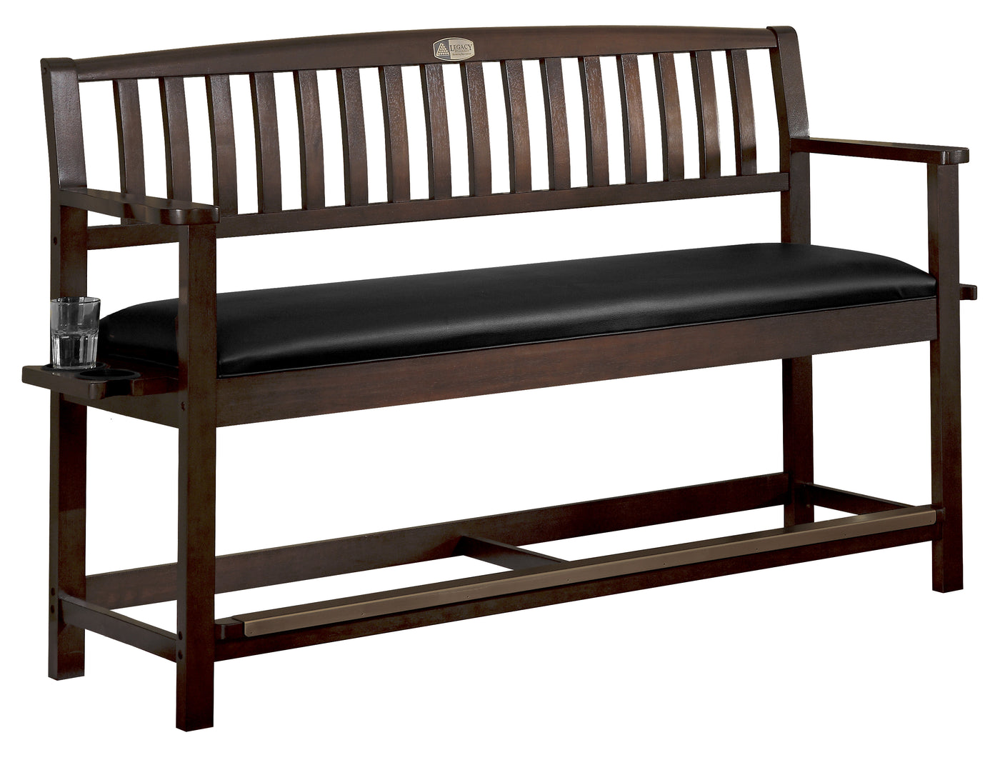 Excellent Classic Backed Storage Bench Legacy Billiards Andrewgaddart Wooden Chair Designs For Living Room Andrewgaddartcom