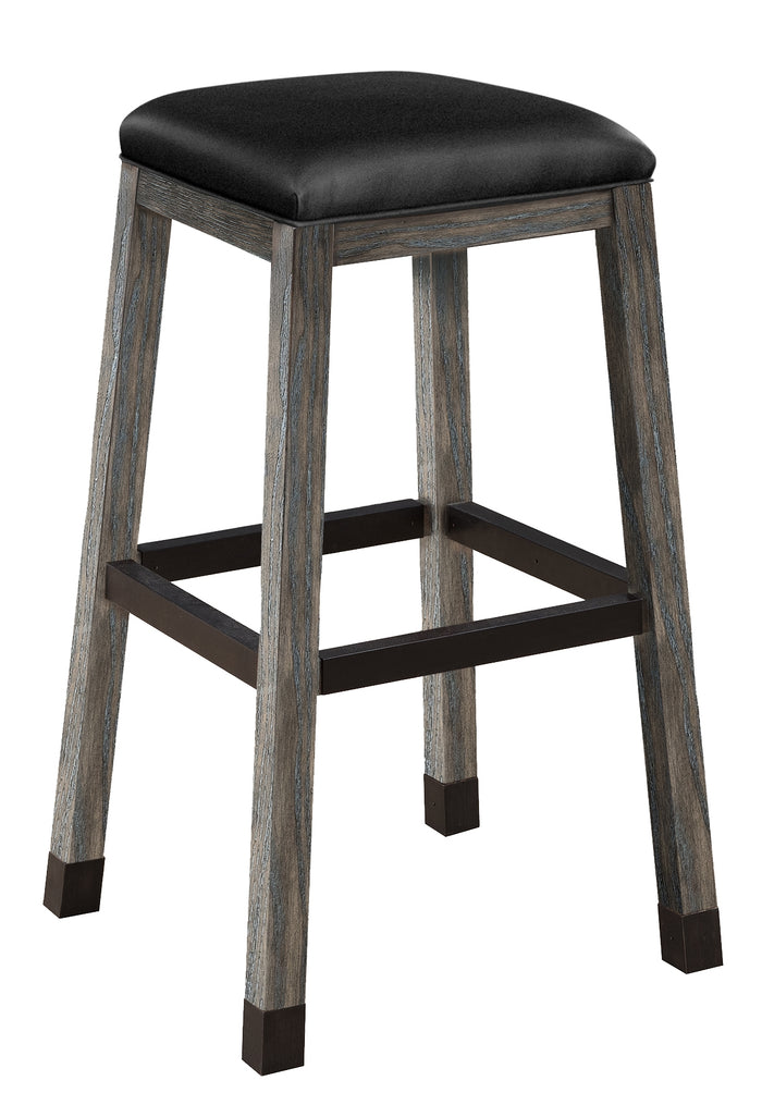 Rustic Backless Barstool