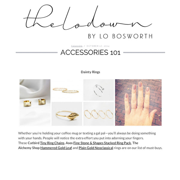 Lo Bosworth rings