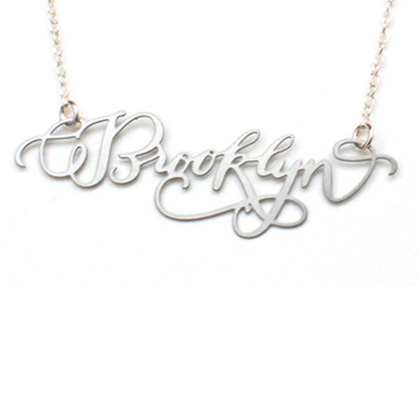 Stainless Steel Brooklyn Pendant Necklace