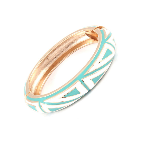 Turquoise & White Tribal Bangle