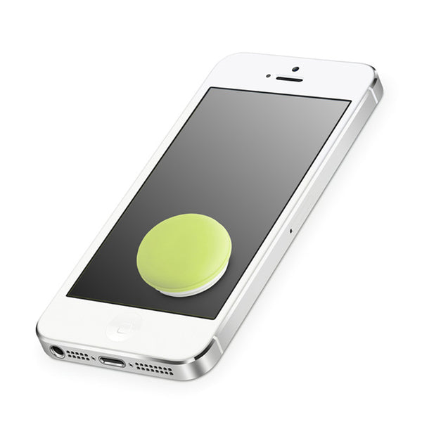 Pastel Green Macamini Phone Charm & Cleaner