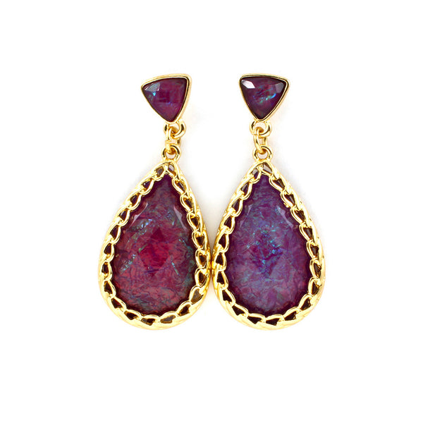 Mystic Magenta Teardrop Earrings
