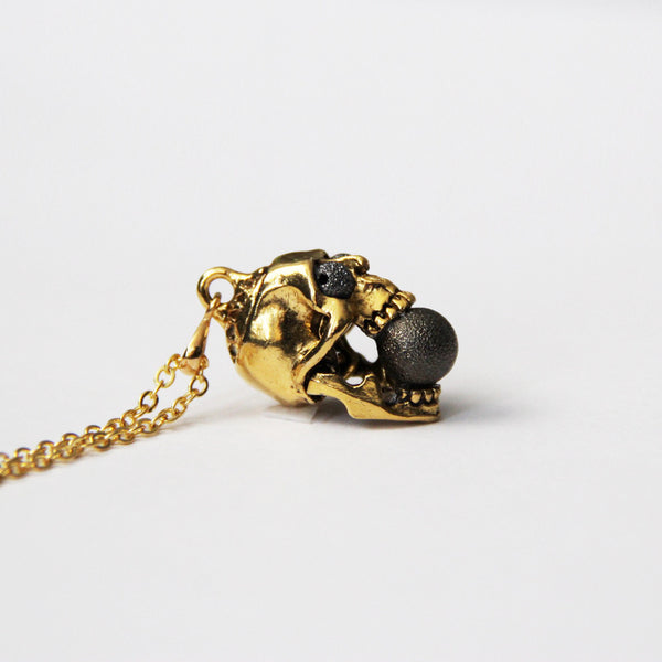 punk rock skull necklace