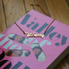 not sorry nameplate necklace