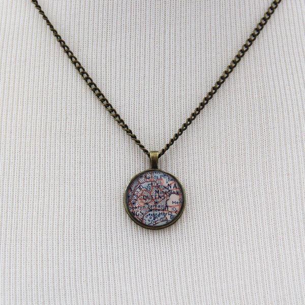 Queens, New York Pendant Necklace