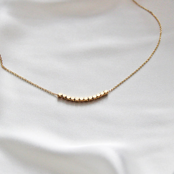 thin gold necklace