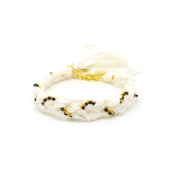 white friendship bracelet
