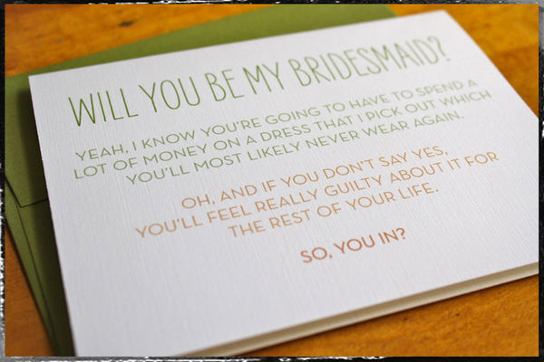 bridal party stationery
