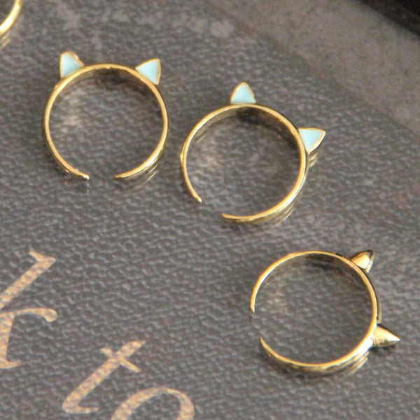 cat ear knuckle ring