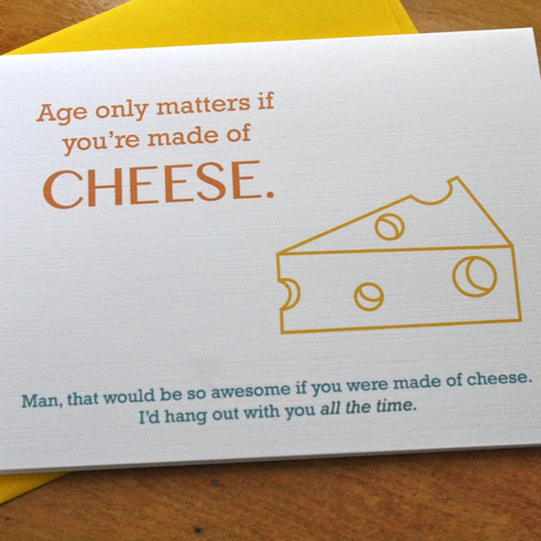 Cheese-Themed Best Friend Thinking of You Card