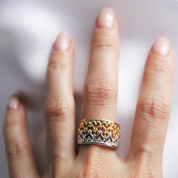 vintage style crown ring