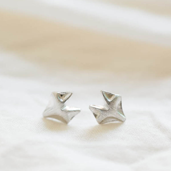Platinum Plate Fox Stud Earrings
