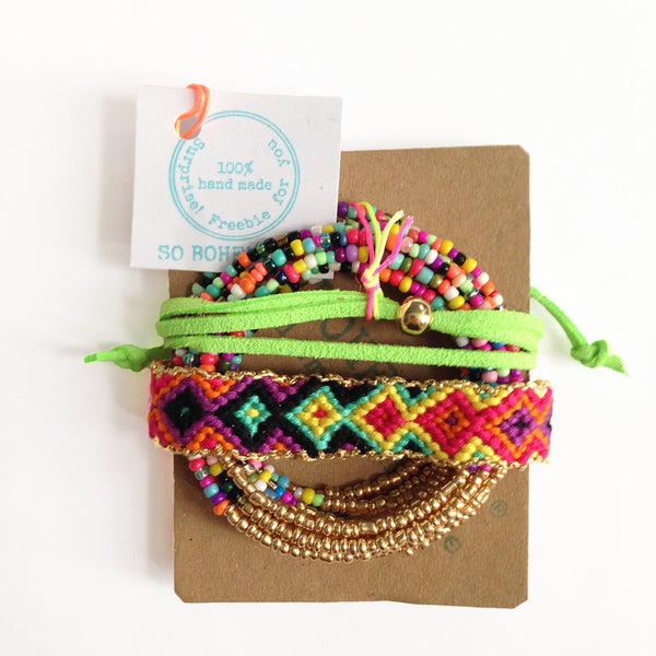 handmade friendship bracelet for set