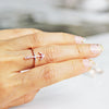 rose gold women's ring