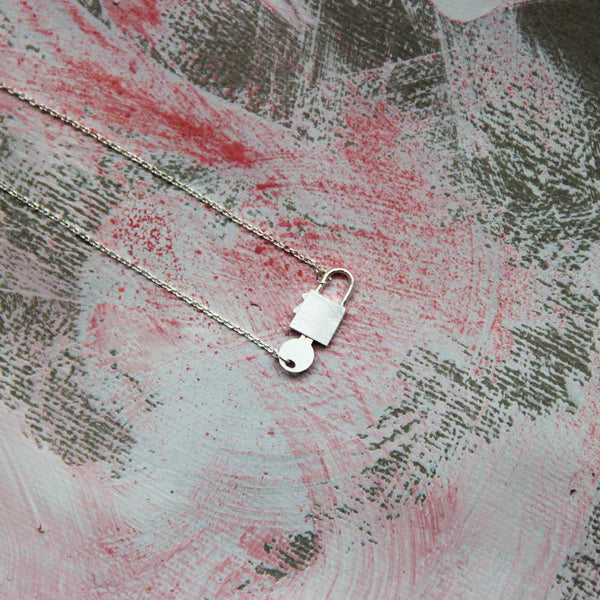 Lock It Up Necklace in Silver Plate