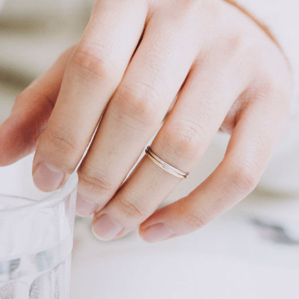 As Seen on the Today Show! Platinum Plated Knuckle Ring or Small Finger Ring