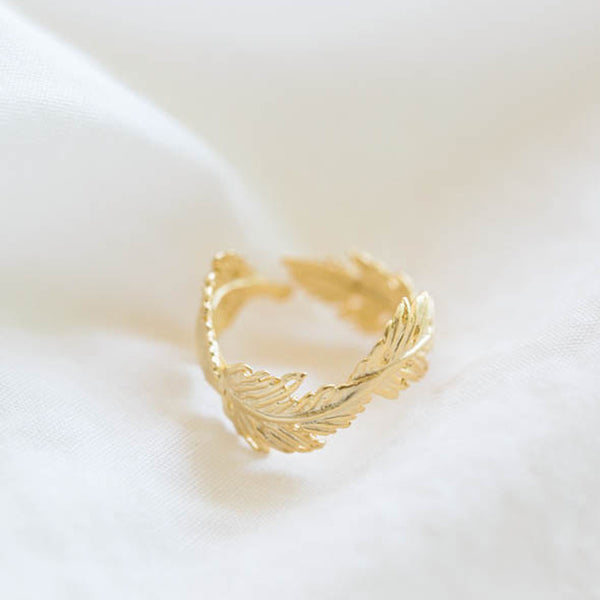 Gold Leaf Wreath Ring