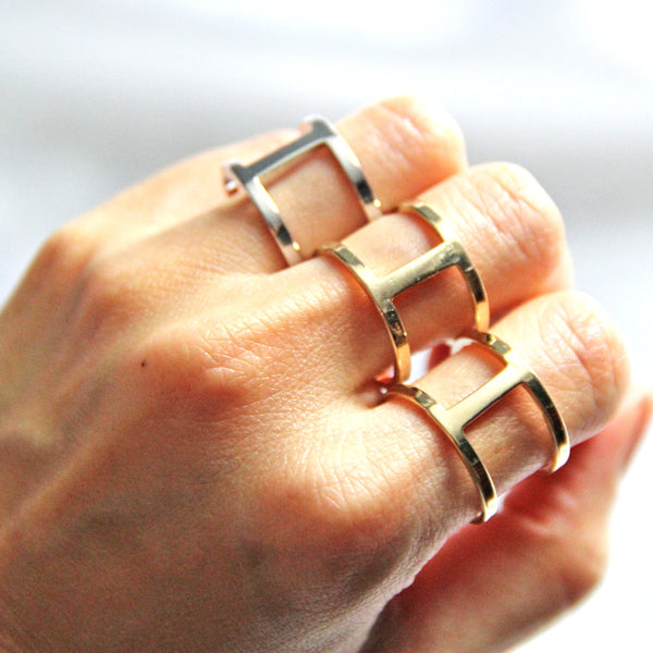 womens rhodium rings