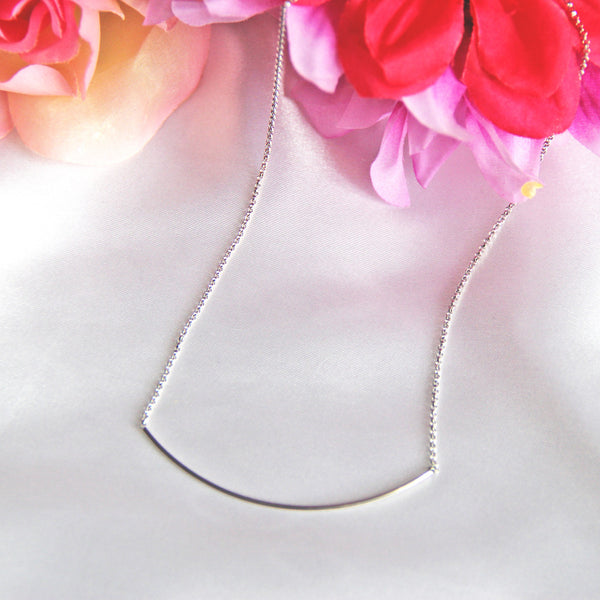 Ahead of the Curve Necklace in Silver