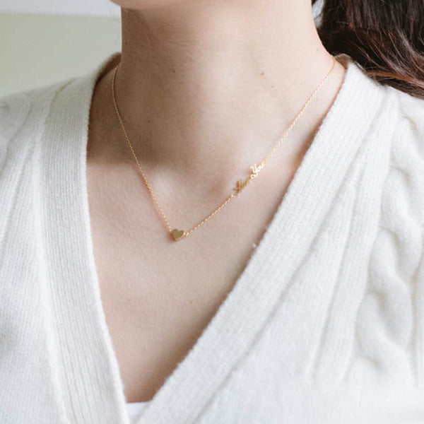 Delicate Gold LOVE YOU Necklace