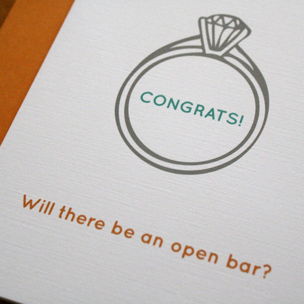 Funny Wedding Congratulations Card
