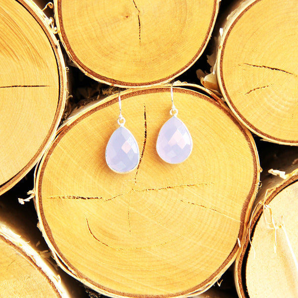 Sugar Drop Earrings in Periwinkle Quartz