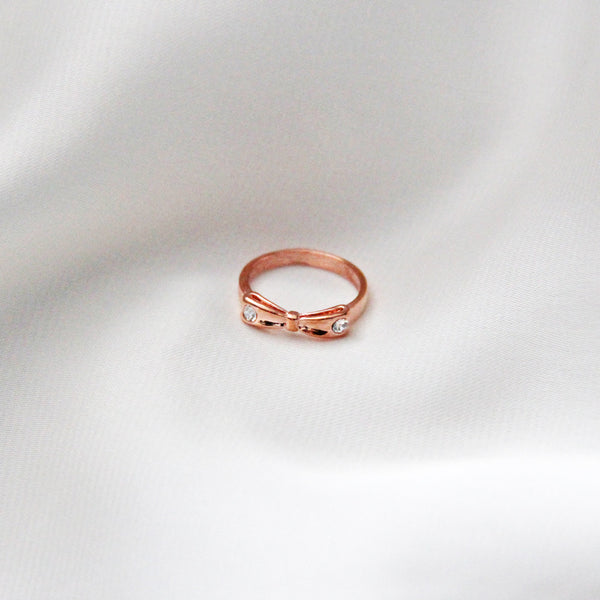Rose Gold Bow Knuckle Ring