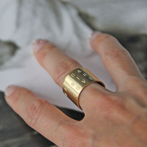 Gold WAY BACK INTO LOVE Cuff Ring