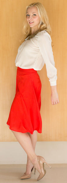 red skirt pants
