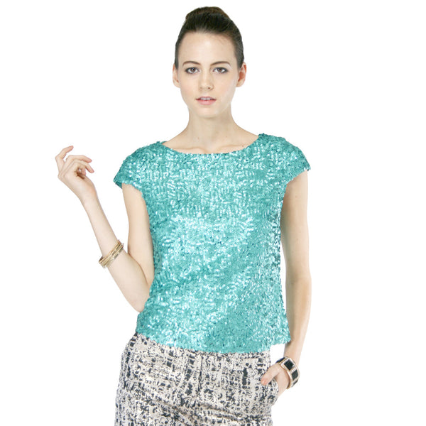 Elegant Green Sequin Blouse