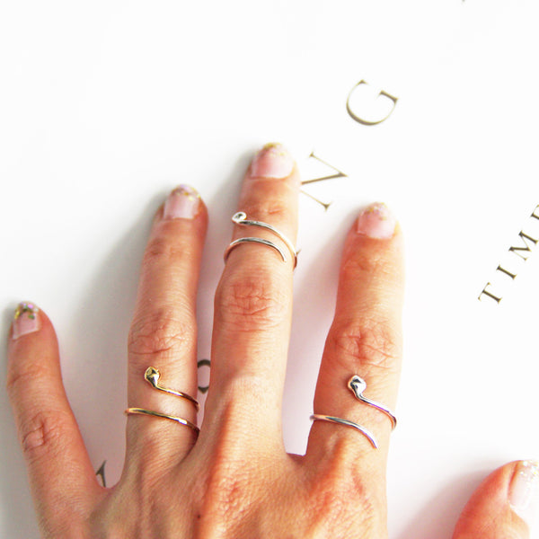 snake knuckle ring women