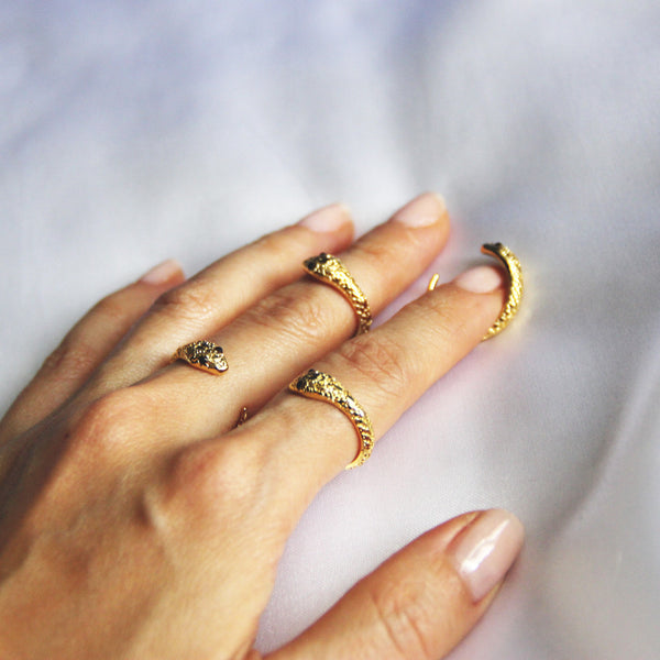stylish snake ring
