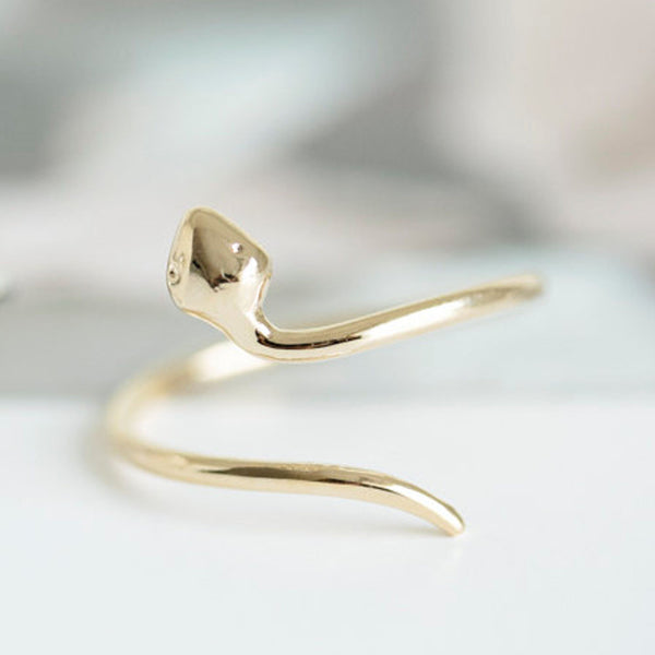 Delicate Gold Snake Ring