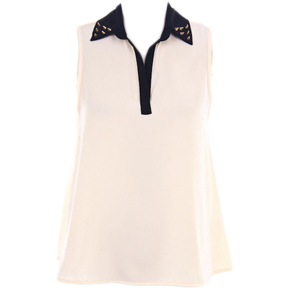 Celeste's Spike Collar Sleeveless Top