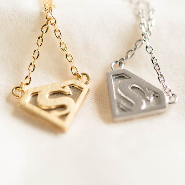 Superman Necklace in Silver