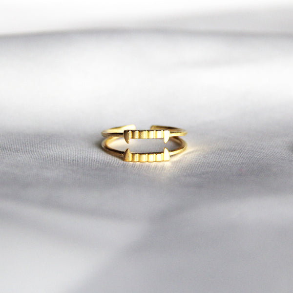 Gold Bite Me Ring