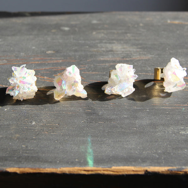 Angel Opal Aura Crystal Cocktail Ring