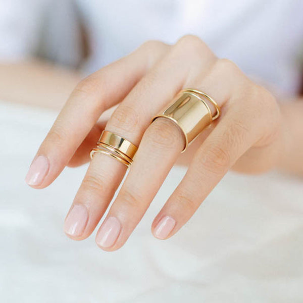 plain gold women's ring
