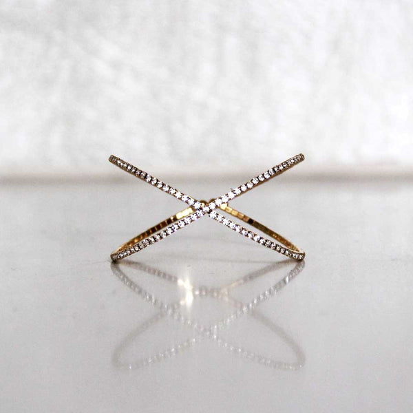 Gold imitation diamond bracelet