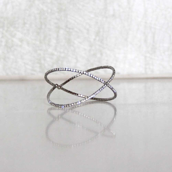 x-factor cubic zirconia bangle cuff