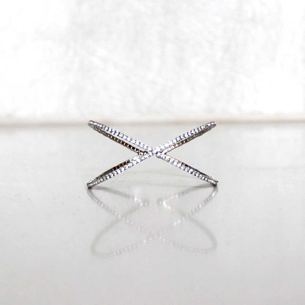 cubic zirconia bangle cuff