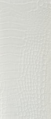 Crocodile White Vinyl Leather Upholstery Fabric