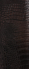 Crocodile Burgundy Vinyl Leather Upholstery Fabric