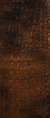 Crocodile Bronze Vinyl Leather Upholstery Fabric