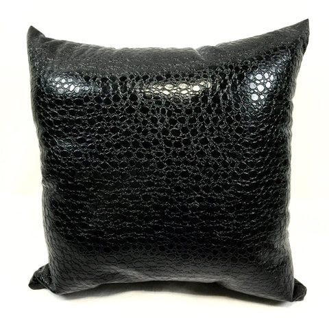 Spot Black Faux Leather Home Decorative Pillow
