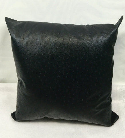 Ostrich Brown Faux Leather Home Decorative Pillow
